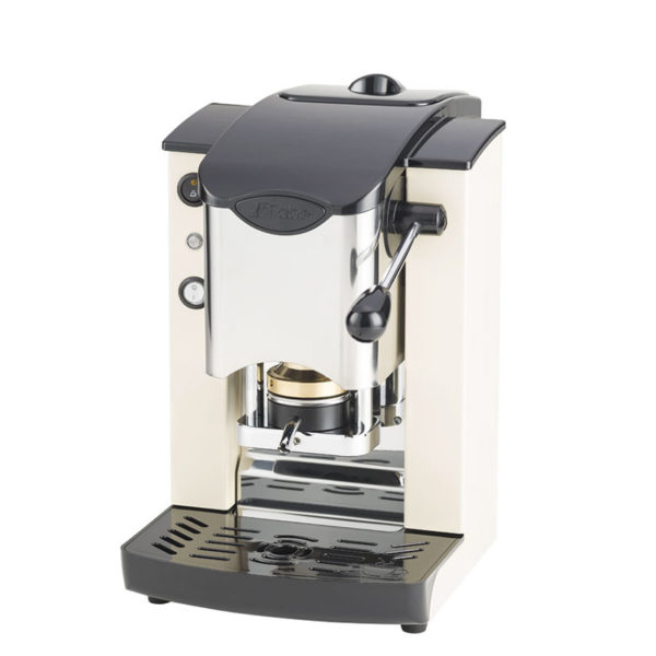Macchina da caffè in cialde Slot Inox color avorio e nero