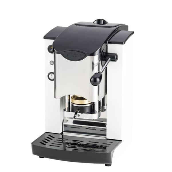 Macchina da caffè in cialde Slot Inox bianco e nero