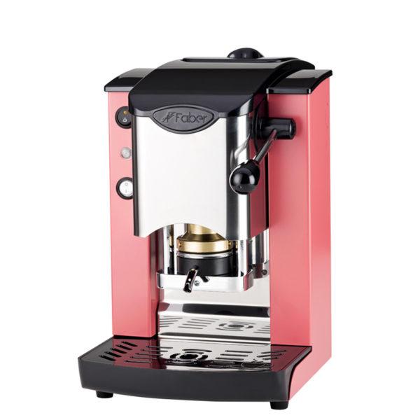 Macchina da caffè in cialde Slot Inox color corallo e nero