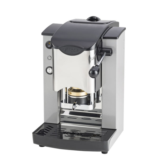 Macchina da caffè in cialde Slot Inox color grigio e nero